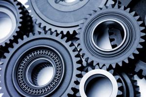 particolare di ingranaggio, industriale macchinario