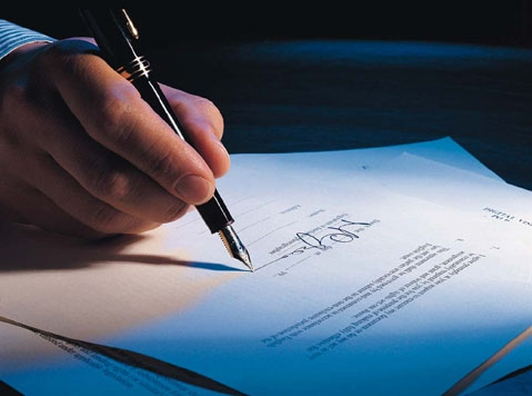 Firma con penna stilografica procedure fallimentari
