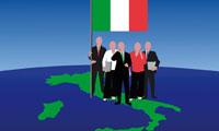 Italia gente bandiera