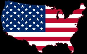 mappa e bandiera usa