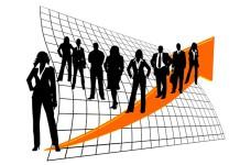 Freccia crescita persone
