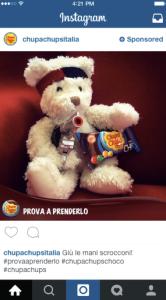 Pubblicità su Instagram Chupa Chups