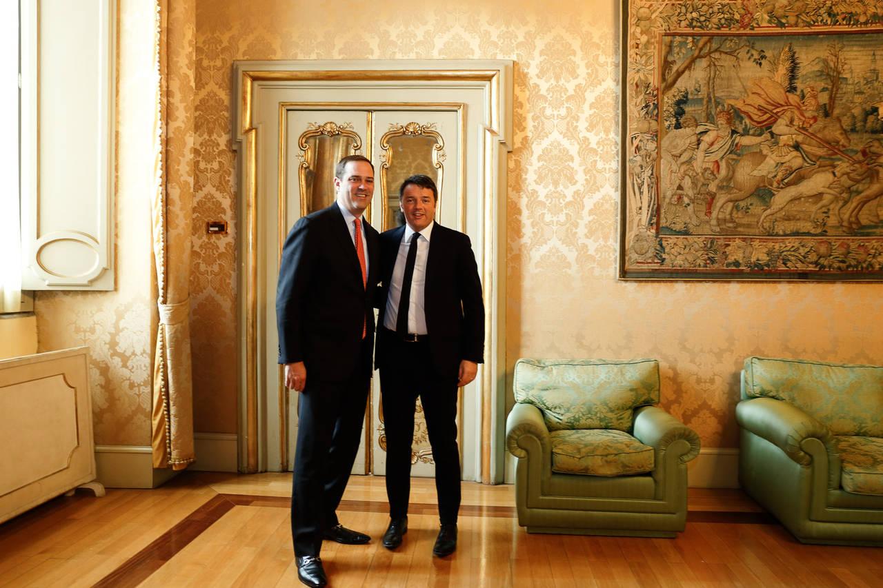 Chuck Robbins_Cisco e Matteo Renzi