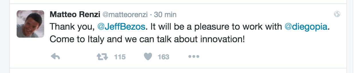Tweet Renzi Piacentini