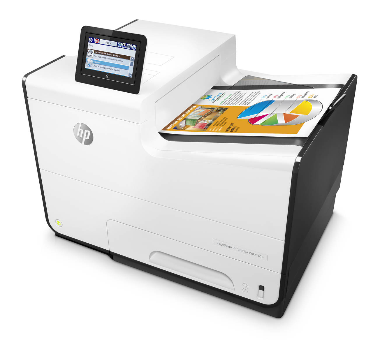 1-HP PageWide Enterprise Color 556dn Printer