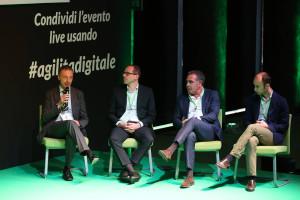 Da sx: Lorenzo Mondino, Gruppo Campari; Luca Paleari, Emmelibri; Aldo Polastri, Gruppo Falck; Simone Fogliani, Gruppo Fogliani