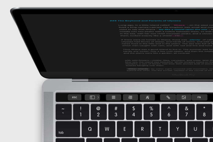 Ulysses Touch Bar