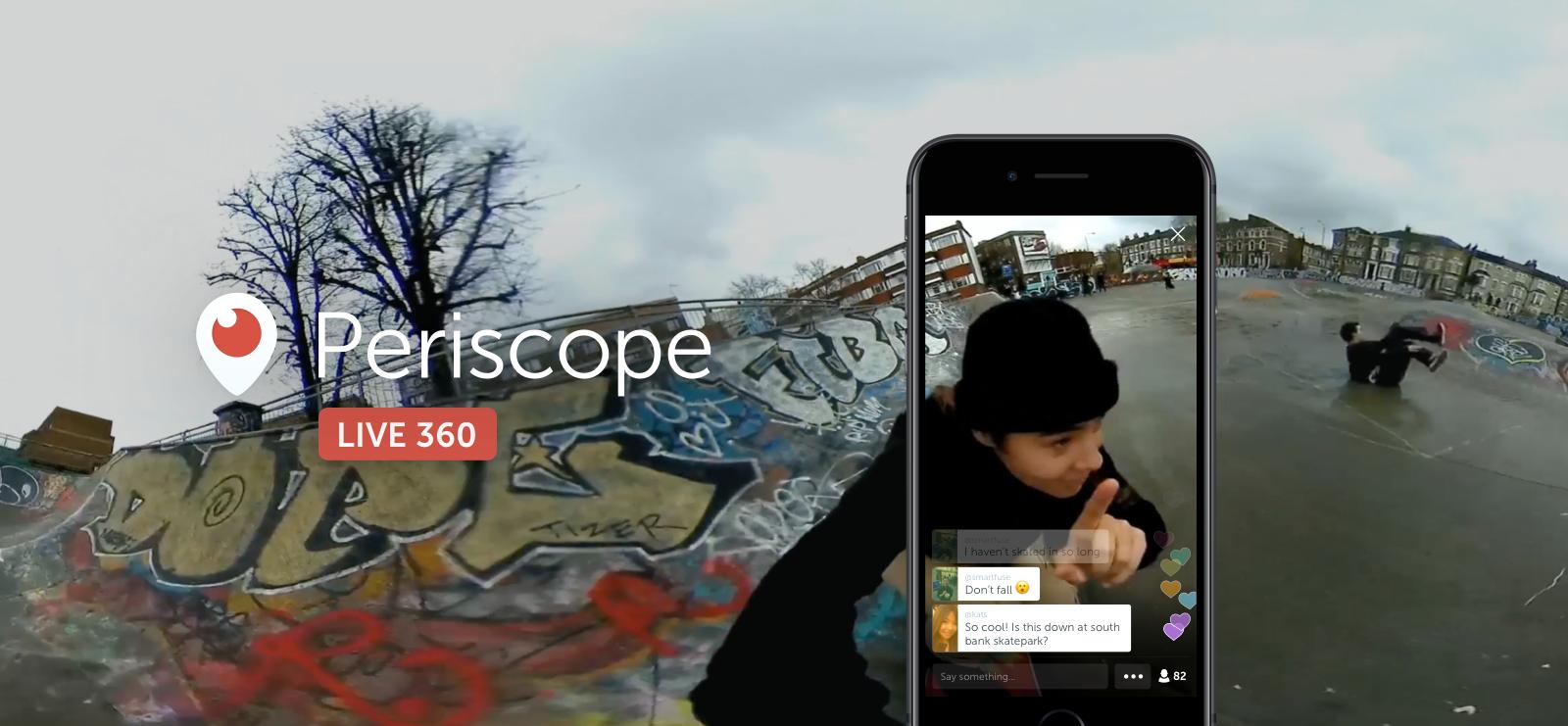Periscope360 video live a 360 gradi