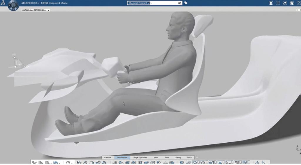 FCA Dassault 3D design