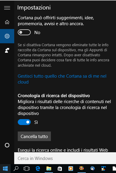 Attivare Cortana