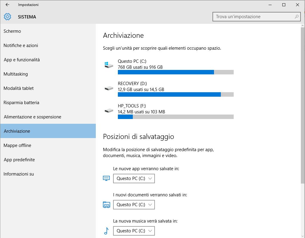 Applicazioni Windows 10