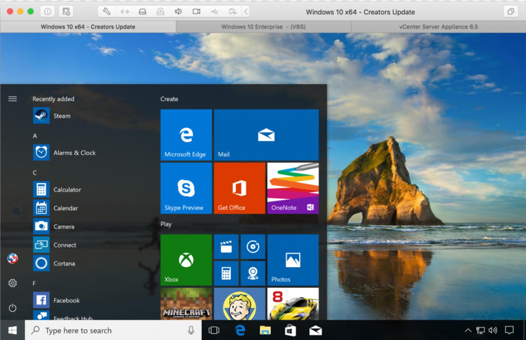 Virtualizzazione Vmware Fusion 10