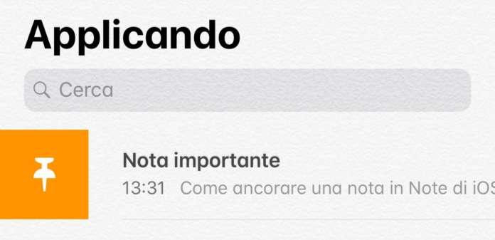 Note di iOS 11