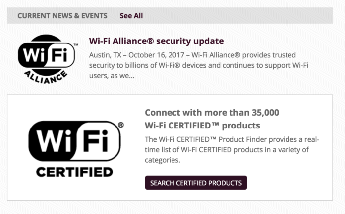 Wi-Fi Alliance WPA2