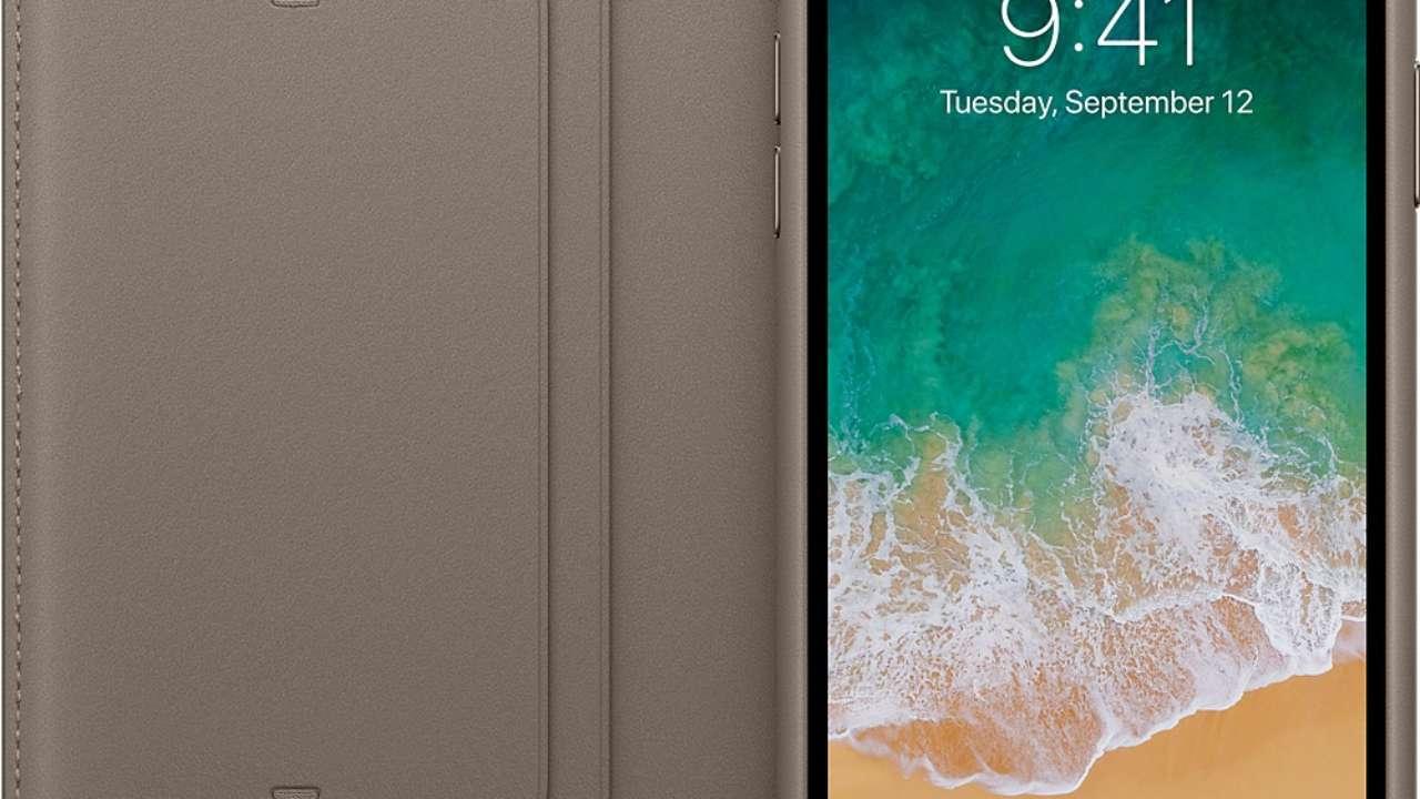 Custodia Apple In Pelle Per iPhone X - Grigio Talpa - I.T. Store Srl