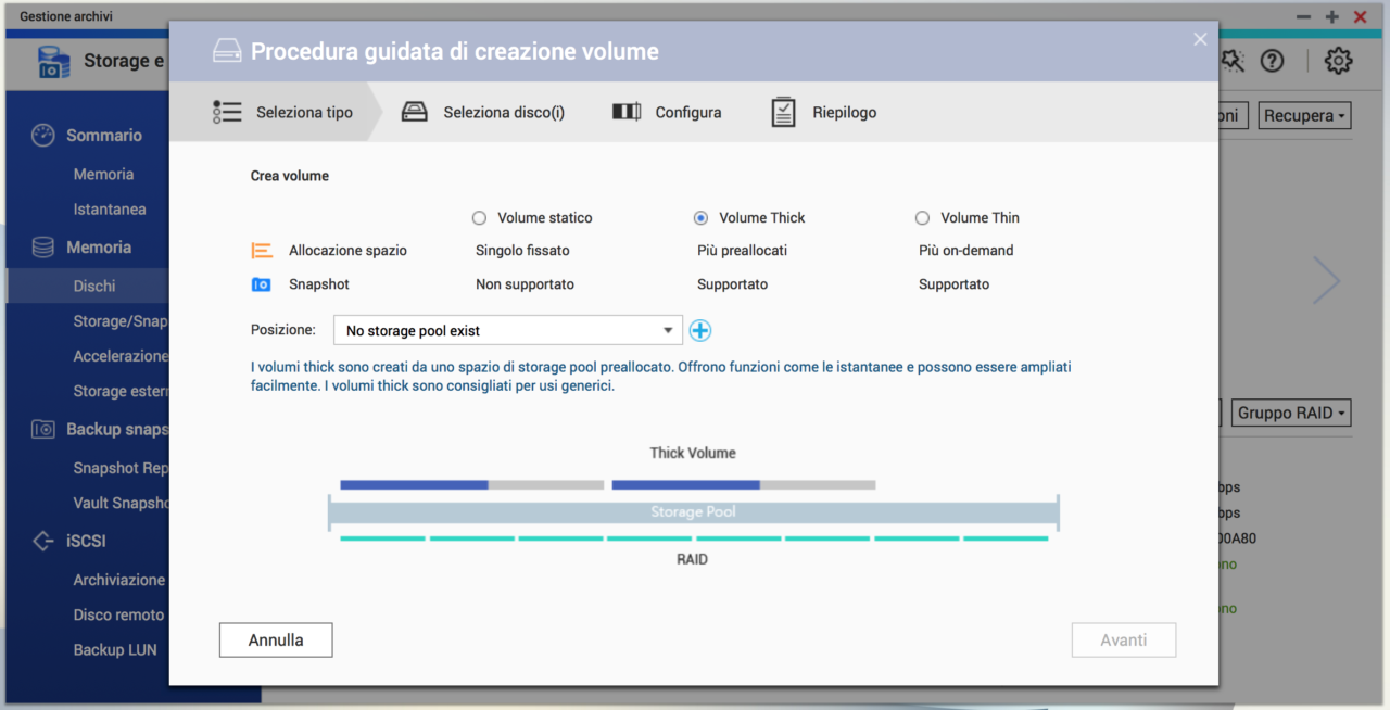 QNAP QTS 4.3.4 Gestione archivi