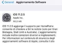 iOS 11.2.5 aggiornamento software per iPhone e iPad