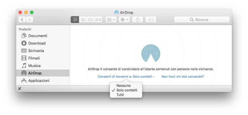 SCARICARE AIRDROP MAC
