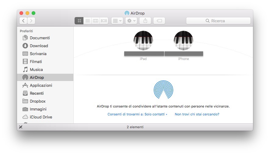 AirDrop sul Mac