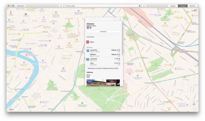 Mappe di iOS e Mac