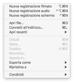 Registrare un video dello schermo dell'iPhone con il Mac