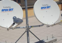 open sky Internet via satellite