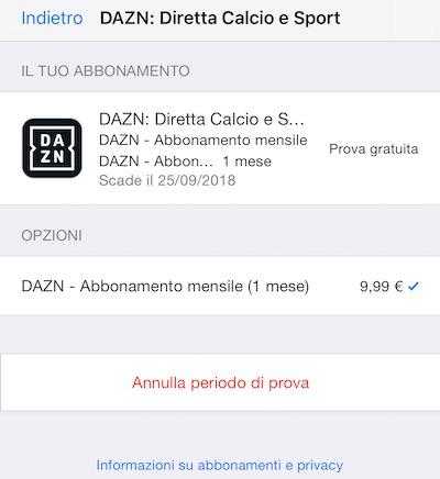 abbonamento di App Store