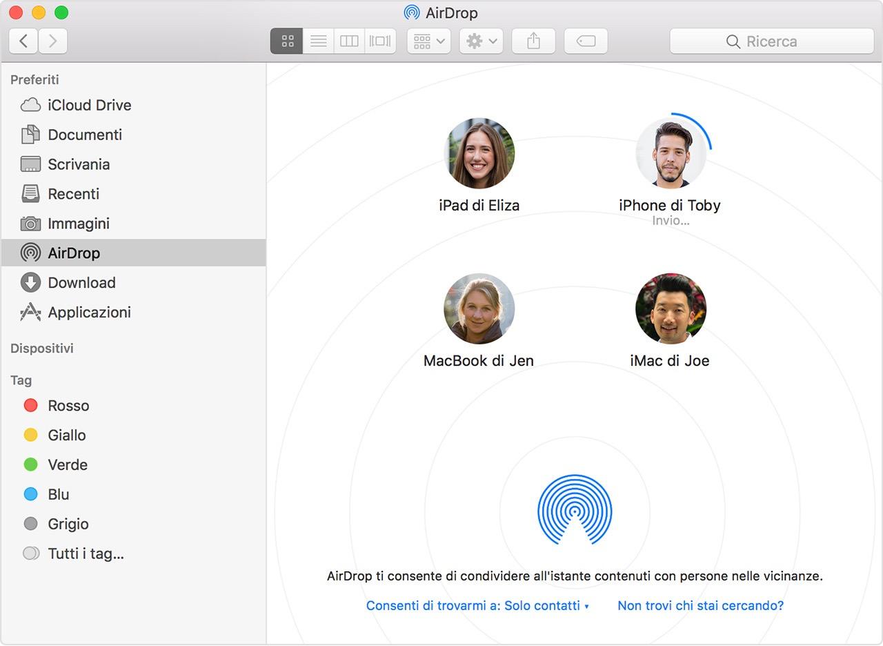Airdrop Come Trasferire Un File Da Iphone A Mac E Viceversa