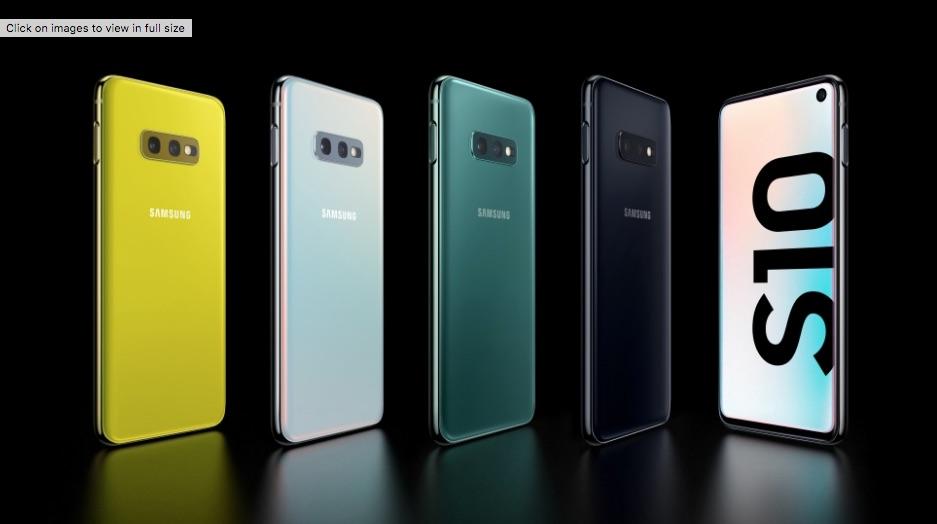 Tutte le colorazioni del Samsung Galaxy 10e