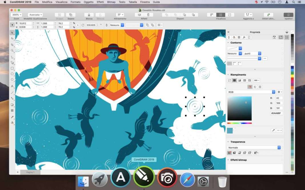 CorelDRAW 2019 for Mac Properties Inspector_IT