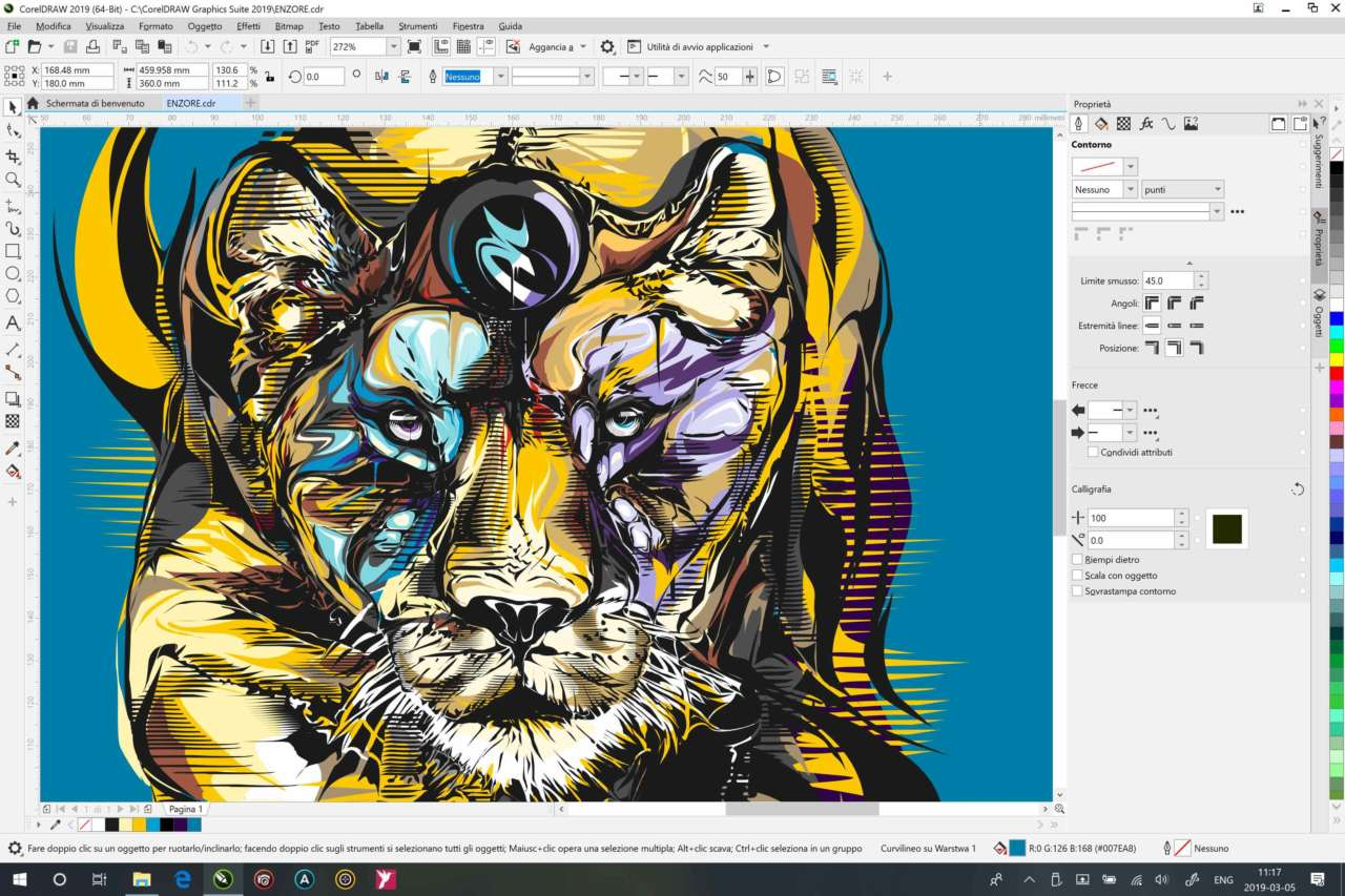 CorelDRAW 2019 for Windows Properties Docker_IT