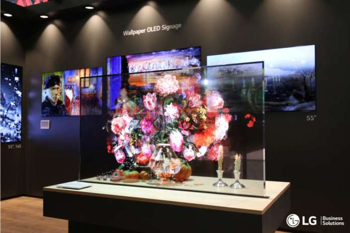 LG OLED Transparent
