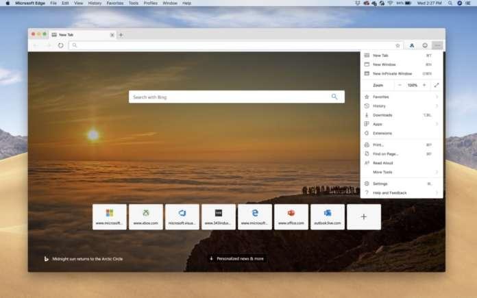 Microsoft Edge macOS