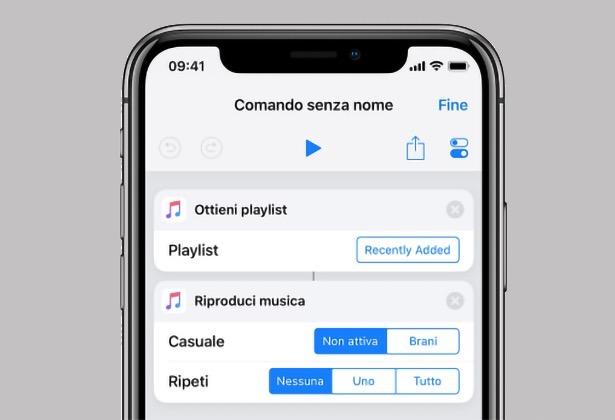 Comandi rapidi iOS