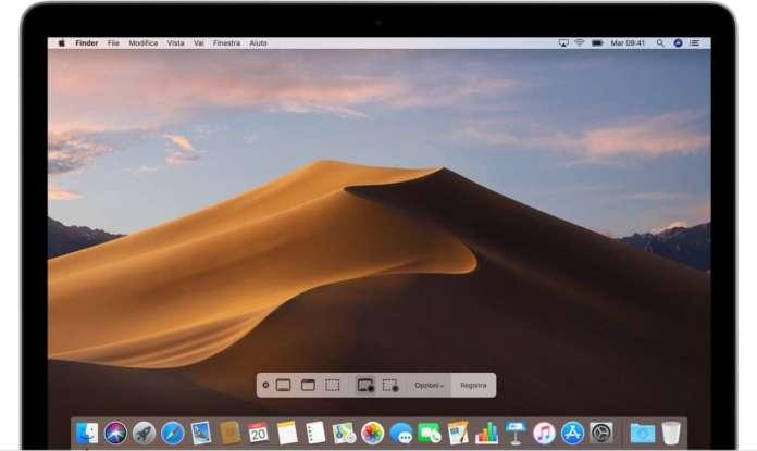 registrazione video dello schermo del Mac