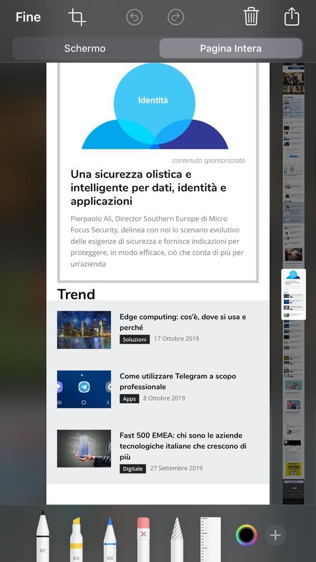 Screenshot Safari iOS
