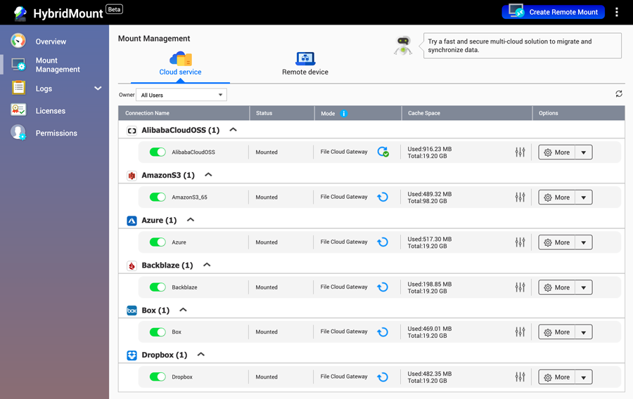 cloud ibrido Qnap HybridMount