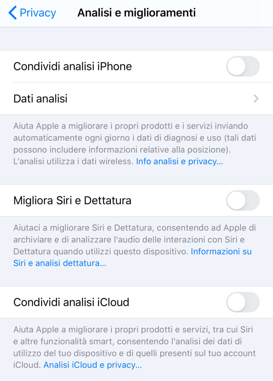 Siri privacy