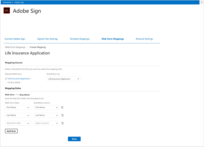 Adobe Sign Microsoft SharePoint