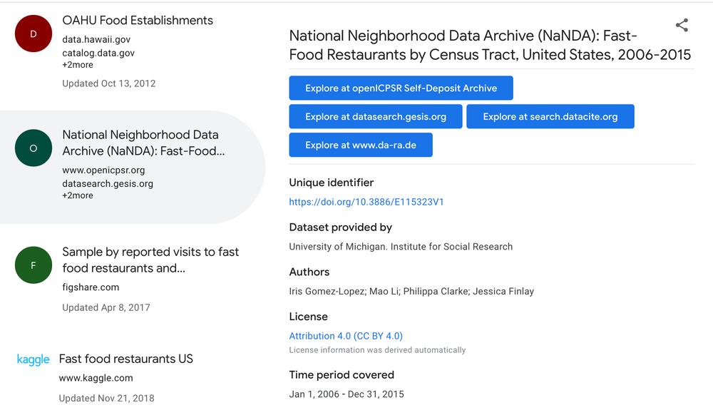 Dataset Search di Google