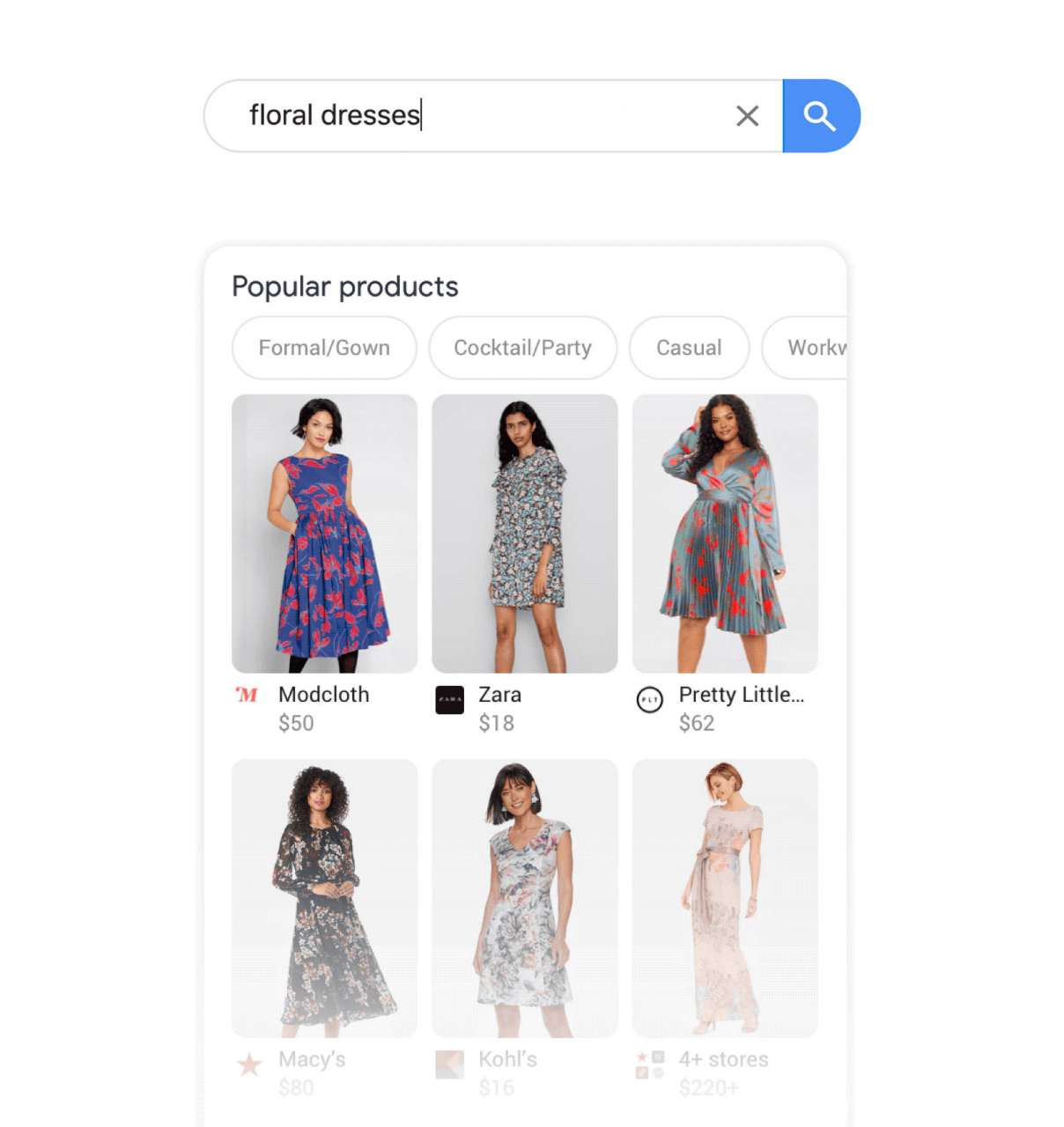 Shopping online Google