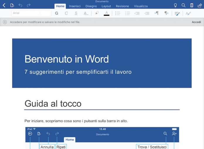 Microsoft Office per iOS e iPadOS