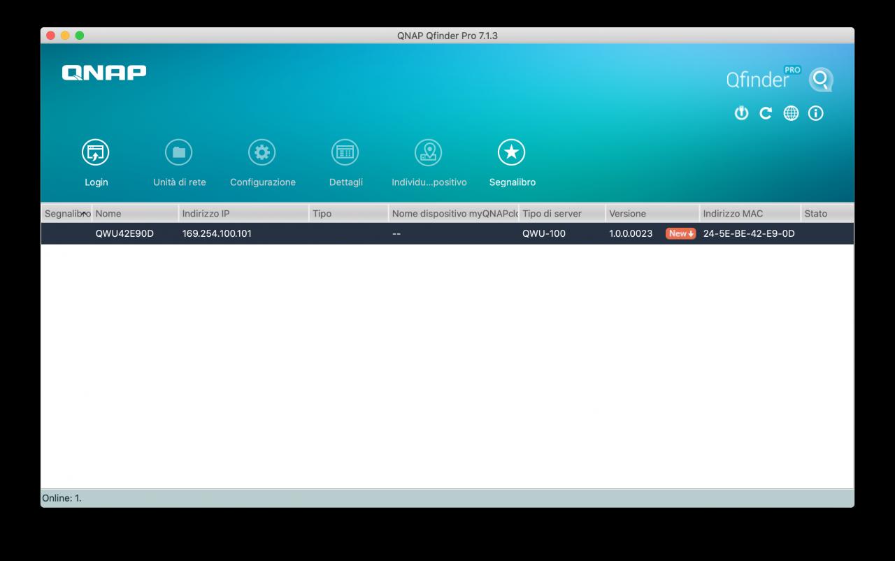QNAP Switch - Qfinder Pro