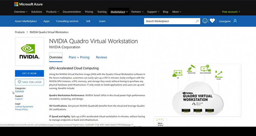 workstation virtuale Nvidia