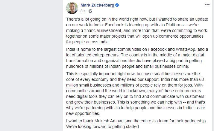 facebook telco