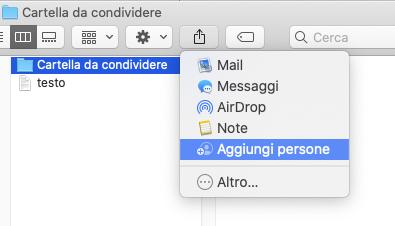 condividere le cartelle di iCloud Drive su Mac e web