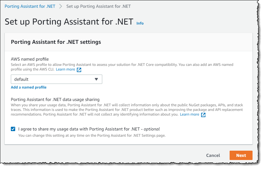 AWS porting .NET
