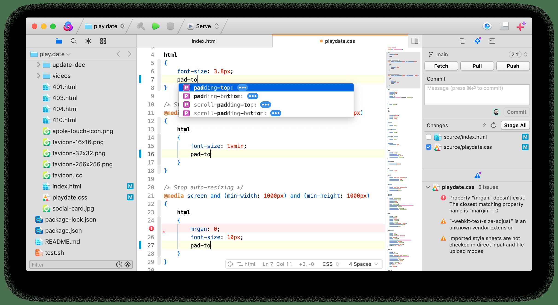 editor codice Mac Panic Nova
