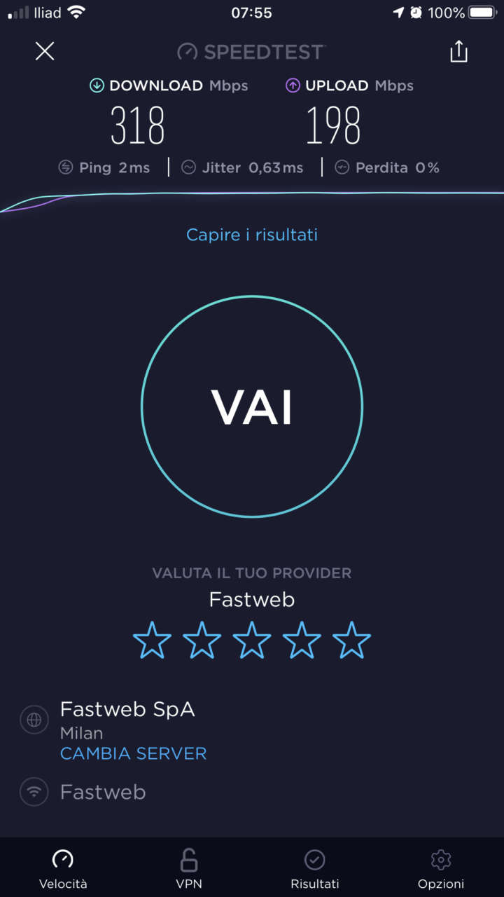 Amazon Home Wi-Fi System - Speed Test iPhone 8 Plus