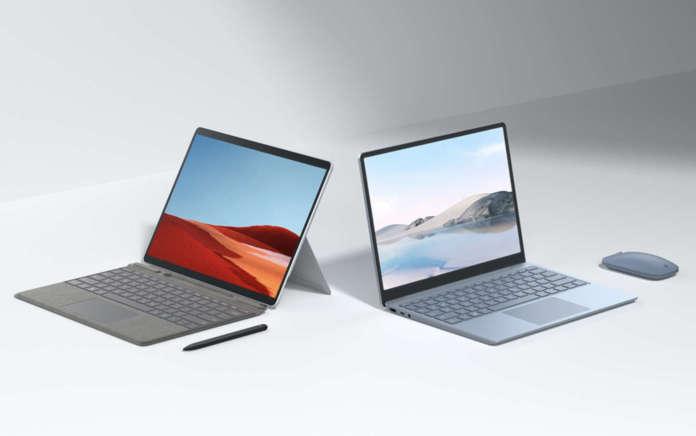 Surface Laptop Go e Surface Pro X